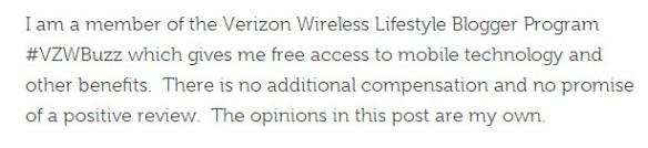 Verizon Wireless Lifestyle Blogger Program