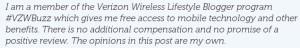 Verizon Wireless Lifestyle Blogger #VZWBuzz