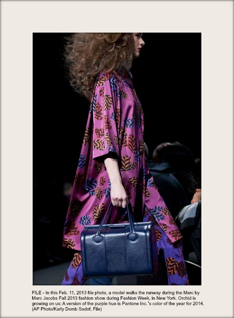AP Photo Karly Domb Sadof    a model walks the runway during the Marc by Marc Jacobs Fall 2013 fashion show during Fashion Week