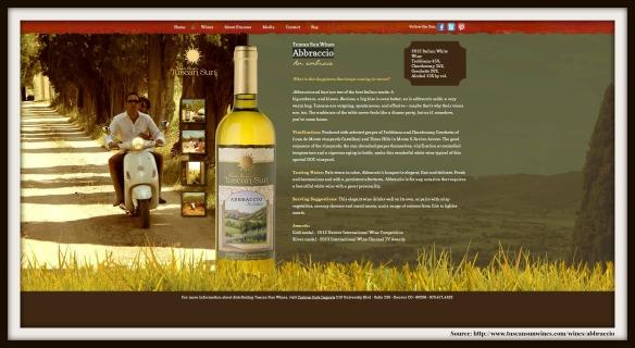 Source Tuscan Sun wines Abbraccio
