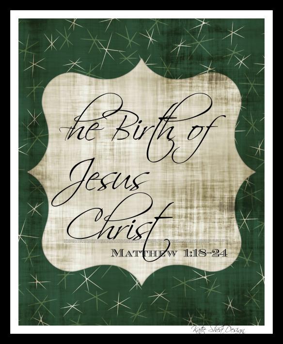 The Birth of Jesus Christ