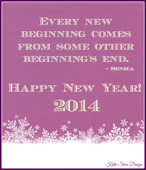 New Beginnings Happy New Year 2014