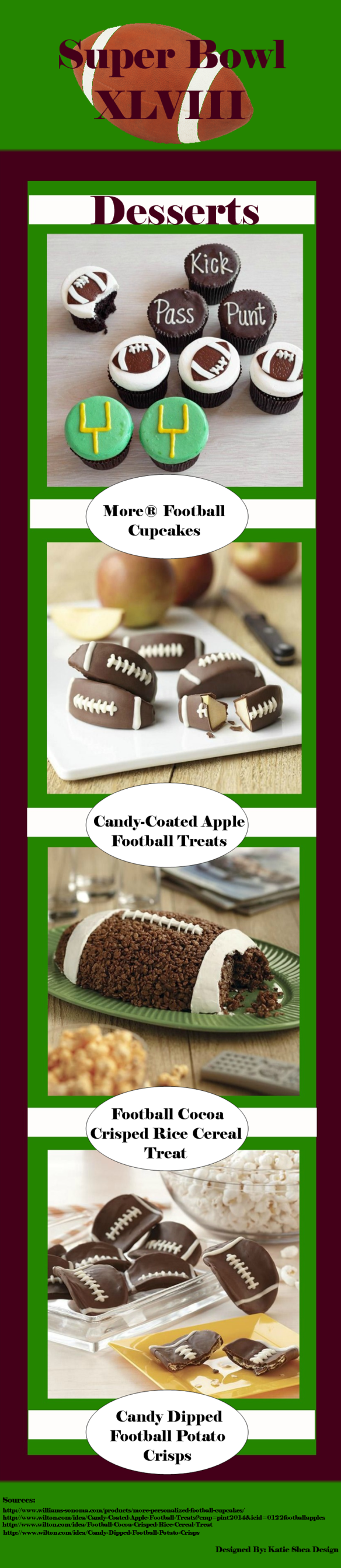 #KatieSheaDesign ♡❤ ❥▶ #SuperBowl Desserts