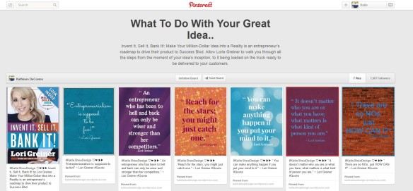What To Do with your Great Idea Pinterest Board