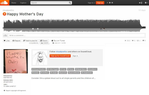 Happy Mother's Day Sound Cloud by Visual Poetics