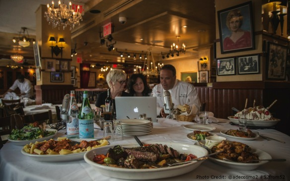 Carmines Times Square NYC-Susan Serra Katheen DeCosmo Glenn Rolnick    Special Edition Food & Booze Show Hosts  Mia Voss and Chef Dennis Littley   Photo Credit Anthony DeCosmo @adecosmo2 #52from52