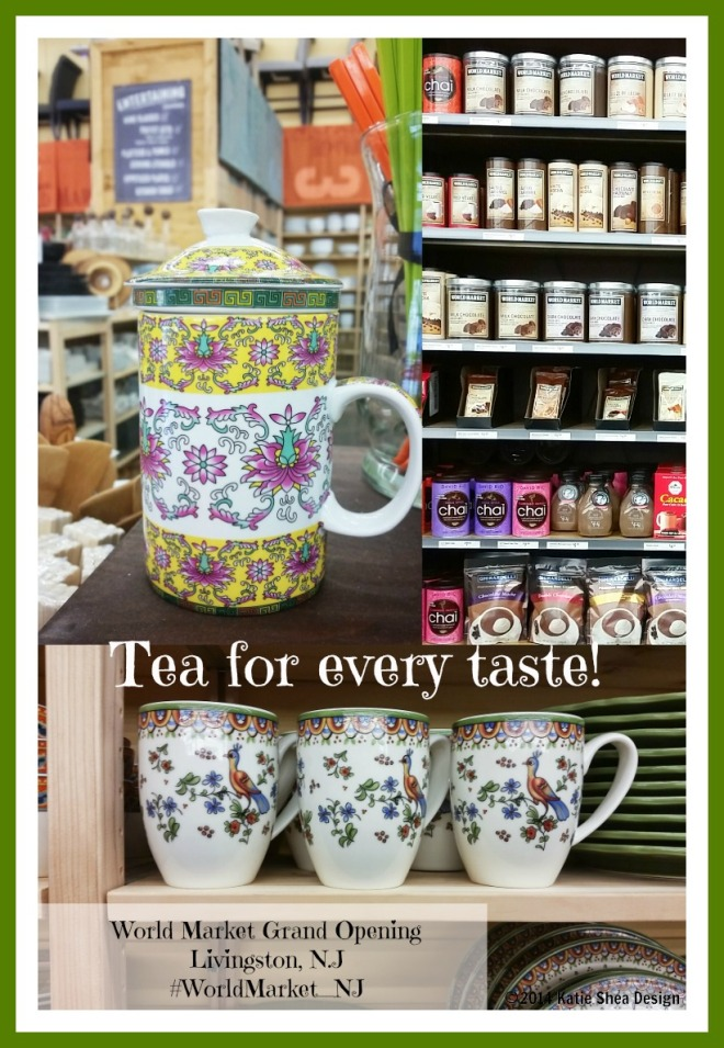 Tea for any taste at world market livingston by katie shea design kathleen decosmo