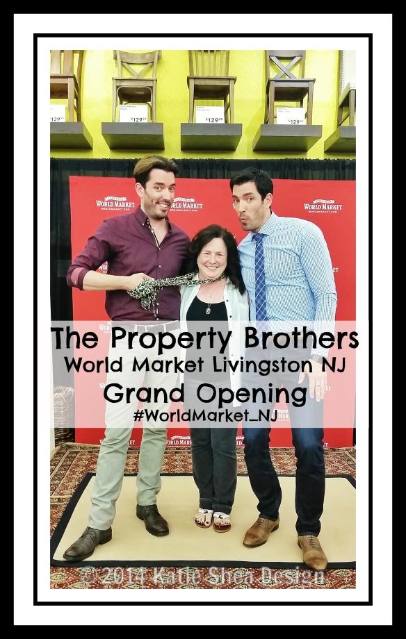 The Property Brothers @WorldMarket Livingston NJ with Kathleen DeCosmo KatieSheaDesign