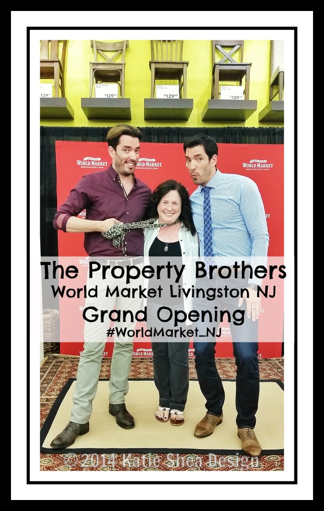 The Property Brothers @WorldMarket Livingston NJ with Kathleen DeCosmo KatieSheaDesign