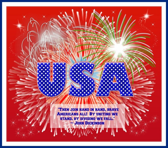 USA Happy July 4th 2014 Quote Katie Shea Design