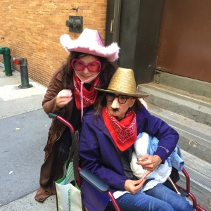 Katie and Shea in costume for the View's Halloween taping NYC shot with iPhone6 VZWBuzz