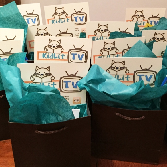 KidLitTV Goodie Bags shot with iphone6 #VZWBuzz