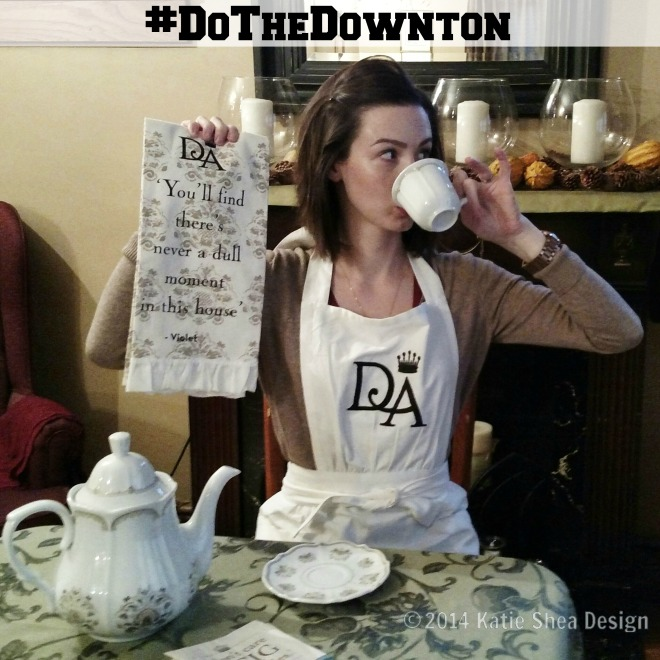 #DoTheDownton  Pinky Up Elizabeth of KatieSheaDesign World Markets Virtual Tea Party