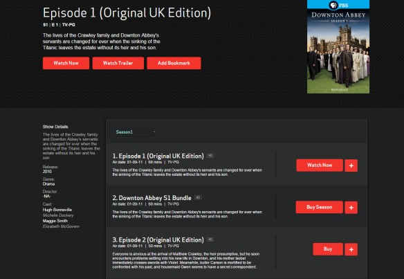 Downton Abbey available on demand for purchase on Fios