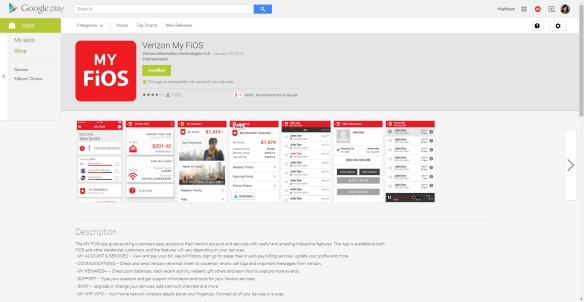 Verizon My FiOS Google Play