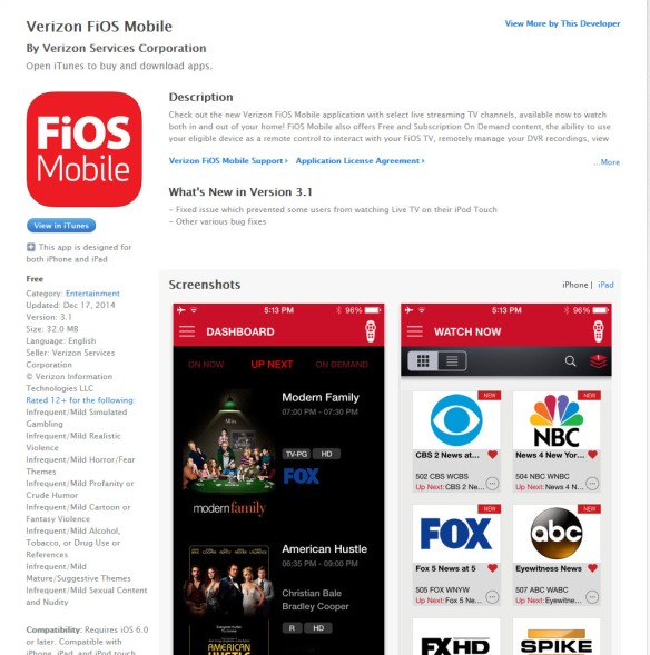 Fios Mobile App for iPhone6 Katie Shea Design