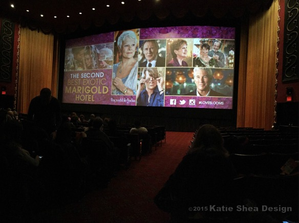 Katie Shea Design Premiere of The Second Best Exotic Marigold Hotel at the Ziegfeld Theatre NYC Katie Shea Design