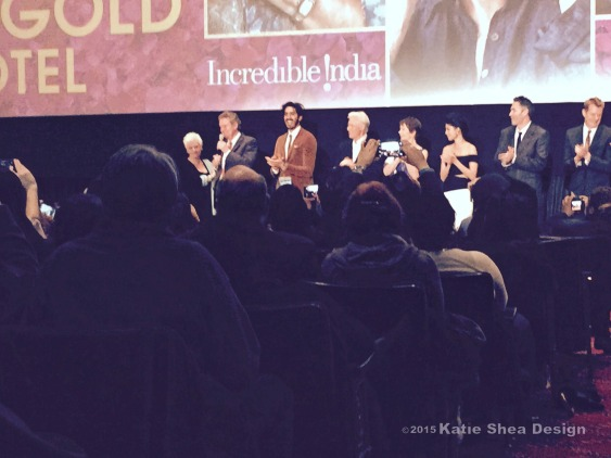 Katie shea Design The Second Best Exotic Marigold Hotel  Cast at the Premiere NYC by Katie Shea Design LifeOnFiOS