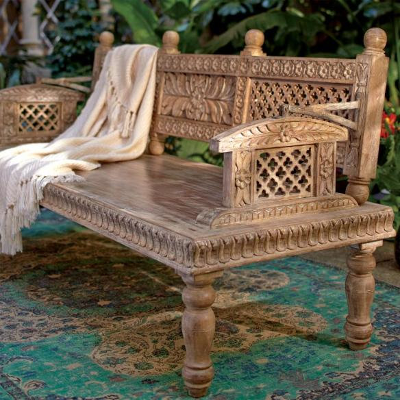 MANGO WOOD BENCH CRAFT BY WORLD MARKET