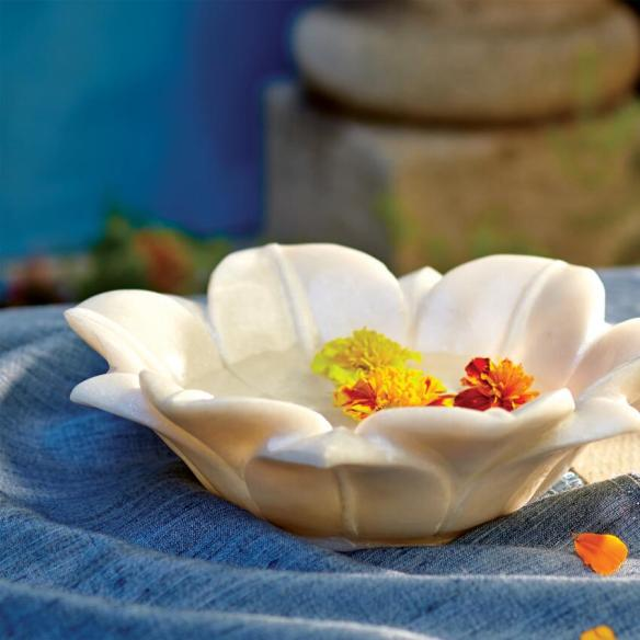 MARBLE LOTUS BOWL CRAFT BY WORLD MARKET