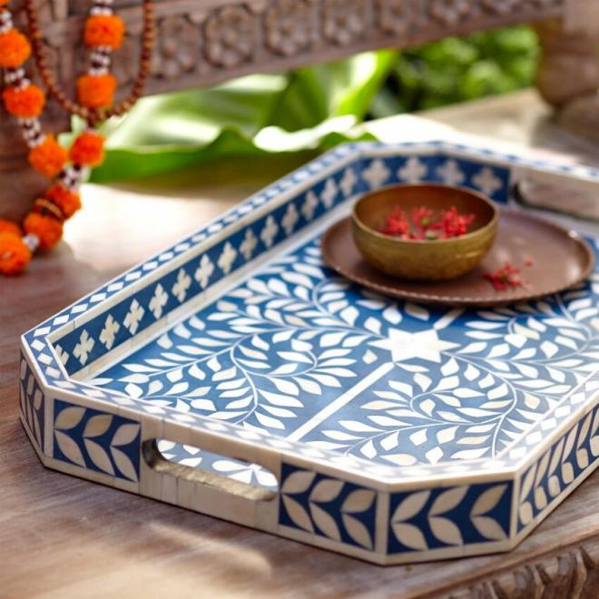 NILA BONE INLAY TRAY CRAFT BY WORLD MARKET