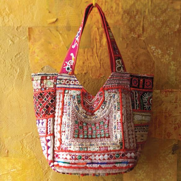 SUNA SARI TOTE BAG CRAFT BY WORLD MARKET
