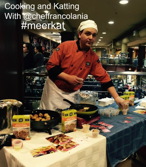 Chef Franco Lania Cooking and Katting #meerkat