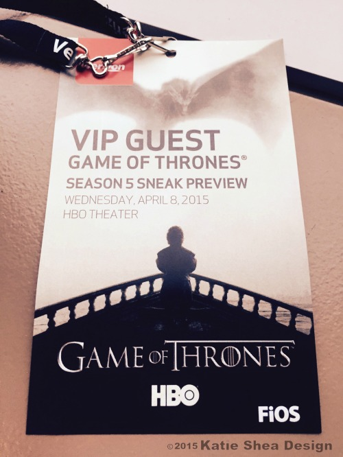 Game of Thrones Season 5 Sneak preview  image shot with iPhone6 by Katie Shea Design
