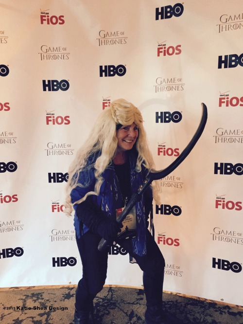 Kathleen DeCosmo of Katie Shea Design at Season 5 Game of Thrones Preview NYC LifeOnFiOS