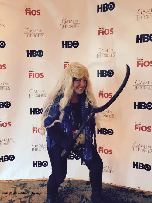 Kathleen DeCosmo of Katie Shea Design at Season 5 Game of Thrones Preview NYC LifeOnFiOS