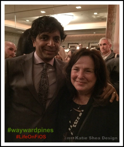 M. Night Shyamalan Producer Wayward Pines on Fox with Kathleen DeCosmo image by Katie Shea Design #LifeOnFiOS #waywardpines