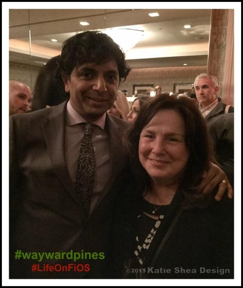 M. Night Shyamalan Producer Wayward Pines on Fox with Kathleen DeCosmo image by Katie Shea Design #LifeOnFiOS #waywardpines