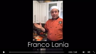 Short clip from Katie Shea Design's Meerkat Video of Chef Franco Lania