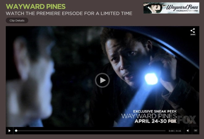 Watch The Wayward Pines Premiere Episode For a Limited Time Here
