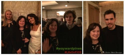 Wayward Pines Hope Davis Kathleen DeCosmo  Carla Gugino Charlie Tahan Matt Dillon Image by Katie Shea Design Wayward Pines Screening #LifeOnF
