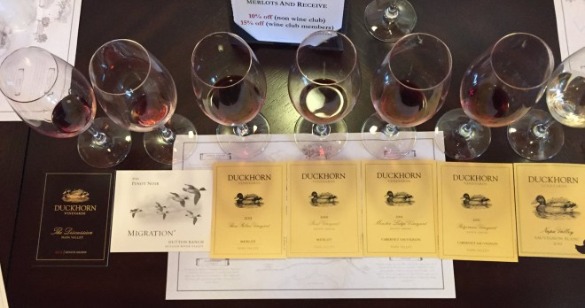 Duckhorn Vineyards Tasting Flight Image by Katie Shea Design 2