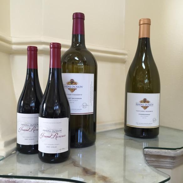 Kendall-Jackson Syrah Cabernet Sauvignon and Chardonnay image by Katie Shea Design