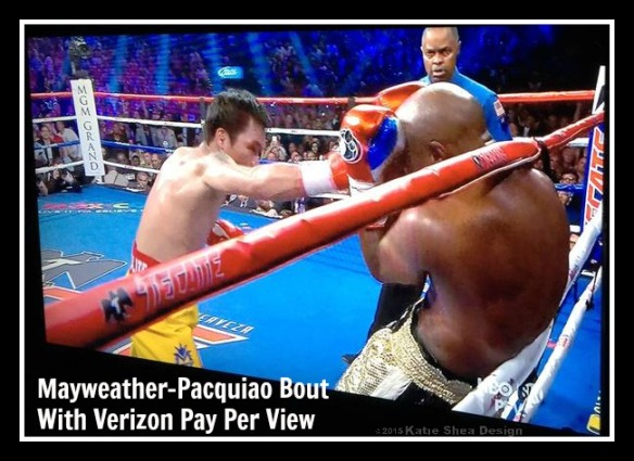 Mayweather-Pacquiao Bout  eplay round 4 Katie Shea Design
