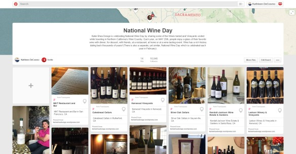 National Wine Day Pinterest Place Board by Katie Shea Design