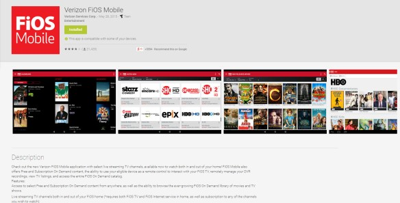 FiOS Mobile App for Android  Katie Shea Design LifeOnFiOS