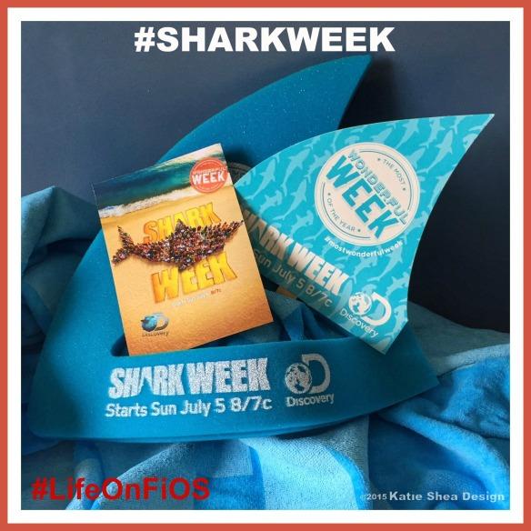 Shark Week Image by Katie Shea Design LifeOnFiOS VZWBuzz C2015 #SharkWeek