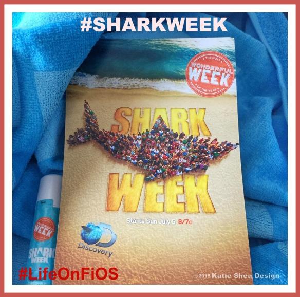 Shark Week Image by Katie Shea Design LifeOnFiOS VZWBuzz week of July 5th 2015 C2015 #SharkWeek