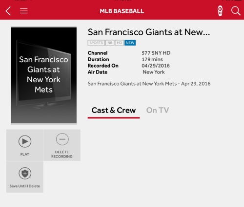FiOS Recording mets VS SF Giants Katie Shea Design #VZWbuzz