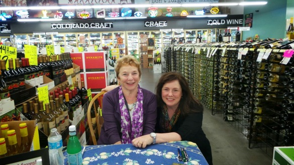 Francis Mayes Kathleen DeCosmo Denver Wine Bottle signing