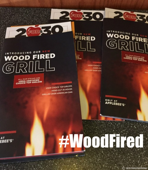 Its here!! Applebees new woodfired grilled menu image shot by Kathleen Decosmo KatieSheaDesign Applebees 50th BWay NYC ad (1) 2016