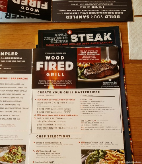 Its here!! Applebees new woodfired grilled menu image shot by Kathleen Decosmo KatieSheaDesign Applebees 50th BWay NYC ad (2) 2016