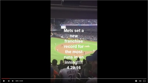 Mets set a new franchise record for the most runs in an inning 4 29 16 video clip by Kathleen Decosmo Katie Shea Design VZWbuzz