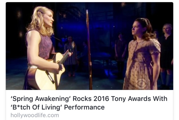 Spring Awakening via Hollywood Life at Tony Awards