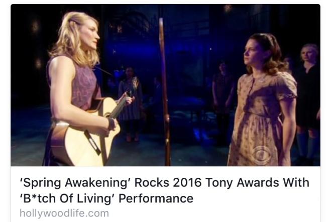 Spring Awakening via Hollywood Life at Tony Awards