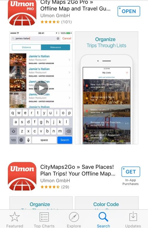 CityMaps2Go screenshot KatieSheaDesign